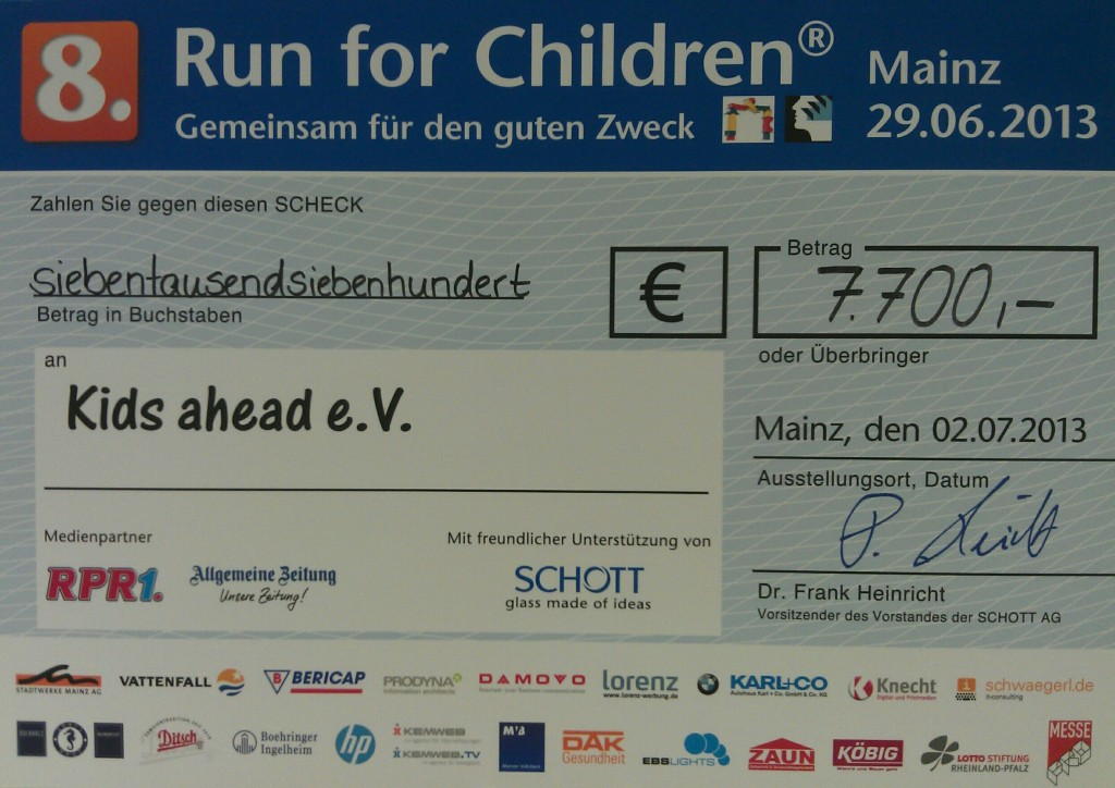 "Check ""Run for Children"""